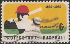 6-cent U.S. postage stamp picturing baseball player