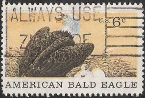 6-cent U.S. postage stamp picturing American bald eagle