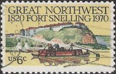 6-cent U.S. postage stamp picturing Fort Snelling