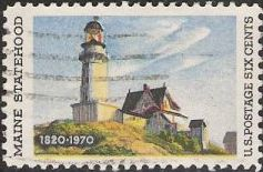 6-cent U.S. postage stamp picturing lighthouse