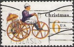 6-cent U.S. postage stamp picturing toy tricycle