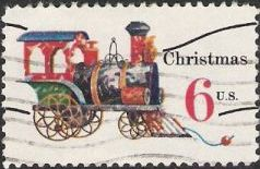 6-cent U.S. postage stamp picturing toy locomotive