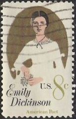 8-cent U.S. postage stamp picturing Emily Dickinson