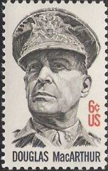 6-cent U.S. postage stamp picturing Douglas MacArthur