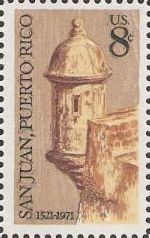 8-cent U.S. postage stamp picturing part of castle
