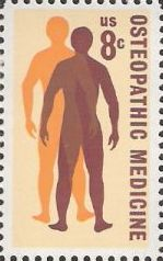 8-cent U.S. postage stamp picturing men's silhouettes