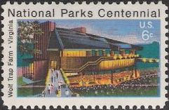 6-cent U.S. postage stamp picturing Filene Center at Wolf Trap National Park for the Performing Arts
