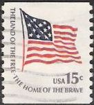 15-cent U.S postage stamp picturing American flag