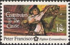 18-cent U.S. postage stamp picturing Peter Francisco