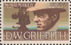 10-cent U.S. postage stamp picturing D.W. Griffith