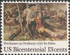 13-cent U.S. postage stamp picturing Yohn's Herkimer at Oriskany painting