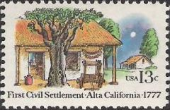 13-cent U.S. postage stamp picturing houses