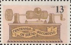 13-cent U.S. postage stamp picturing phonograph