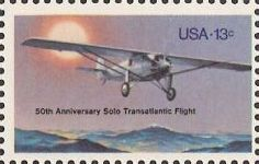 13-cent U.S. postage stamp picturing airplane