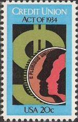 20-cent U.S. postage stamp picturing coin