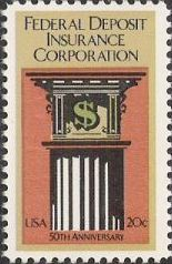 20-cent U.S. postage stamp picturing column