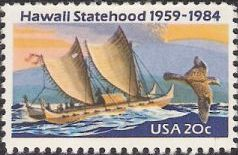 20-cent U.S. postage stamp picturing boat and bird