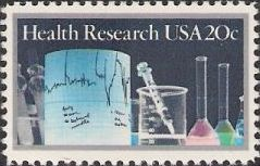 20-cent U.S. postage stamp picturing vials