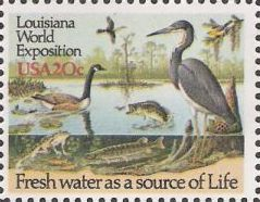 20-cent U.S. postage stamp picturing animals