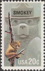 20-cent U.S. postage stamp picturing bears