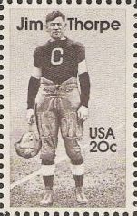 20-cent U.S. postage stamp picturing Jim Thorpe