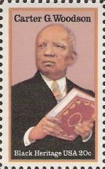 20-cent U.S. postage stamp picturing Carter G. Woodson