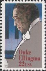 22-cent U.S. postage stamp picturing Duke Ellington