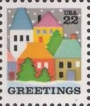 22-cent U.S. postage stamp picturing houses