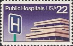 22-cent U.S. postage stamp picturing hospital