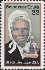 22-cent U.S. postage stamp picturing Sojourner Truth