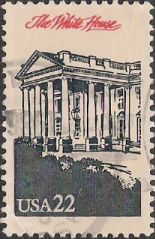 22-cent U.S. postage stamp picturing the White House