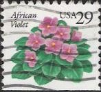 29-cent U.S. postage stamp picturing African violet