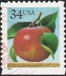 34-cent U.S. postage stamp picturing apple