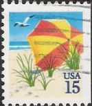 15-ceet U.S. postage stamp picturing umbrella