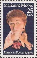 25-cent U.S. postage stamp picturing Marianne Moore