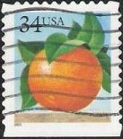 34-cent U.S. postage stamp picturing orange