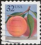 32-cent U.S. postage stamp picturing peach