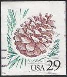 29-cent U.S. postage stamp picturing pine cone