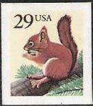 29-cent U.S. postage stamp picturing red squirrel