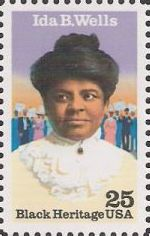 25-cent U.S. postage stamp picturing Ida B. Wells