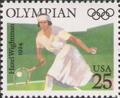 22-cent U.S. postage stamp picturing Hazel Wightman