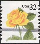 34-cent U.S. postage stamp picturing yellow rose