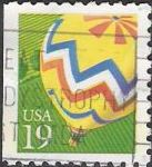 19-cent U.S. postage stamp picturing hot air balloon