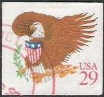 29-cent U.S. postage stamp picturing eagle and shield