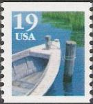 19-cent U.S. postage stamp picturing fishing boat