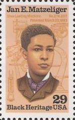 29-cent U.S. postage stamp picturing Jan E. Matzeliger