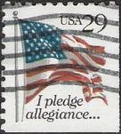 29-cent U.S. postage stamp picturing American flag