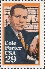 29-cent U.S. postage stamp picturing Cole Porter and sheet music