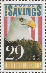29-cent U.S. postage stamp picturing bald eagle