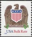 Non-denominated 10-cent U.S. postage stamp picturing eagle and shield